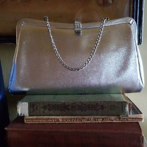 Gorgeous FREE Vtg Silver Purse FREE with Purchase